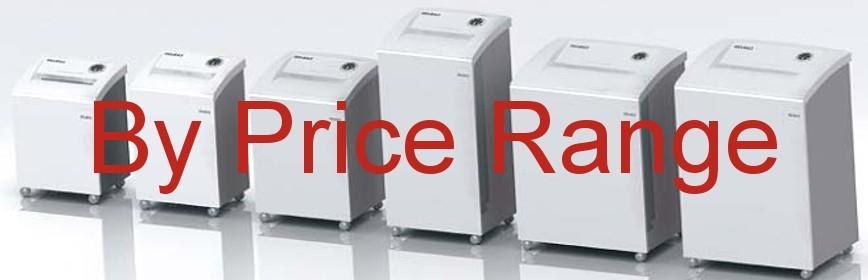 Shredders by Price Range