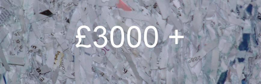 £3000 +